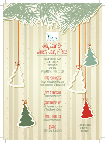 Holiday bazaar invitation