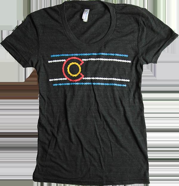 Co bike chain t shirt women t shirts shop kind design for Bike and cycle shoppe shirt