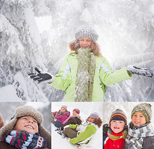 Children Playing in Snow Diversity Calendar