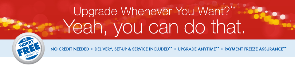 Upgrade whenever you want?** Yeah, you can do that.