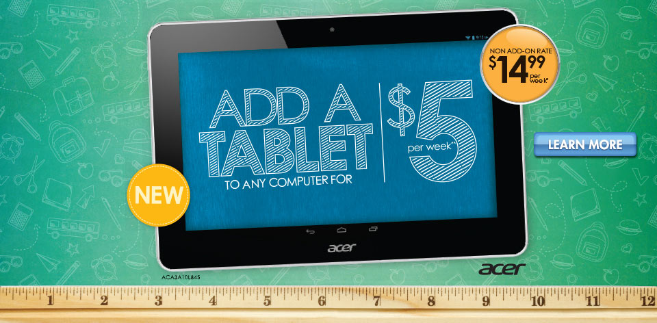 Add a Tablet to Any Computer for $5 per week^^ - Learn More