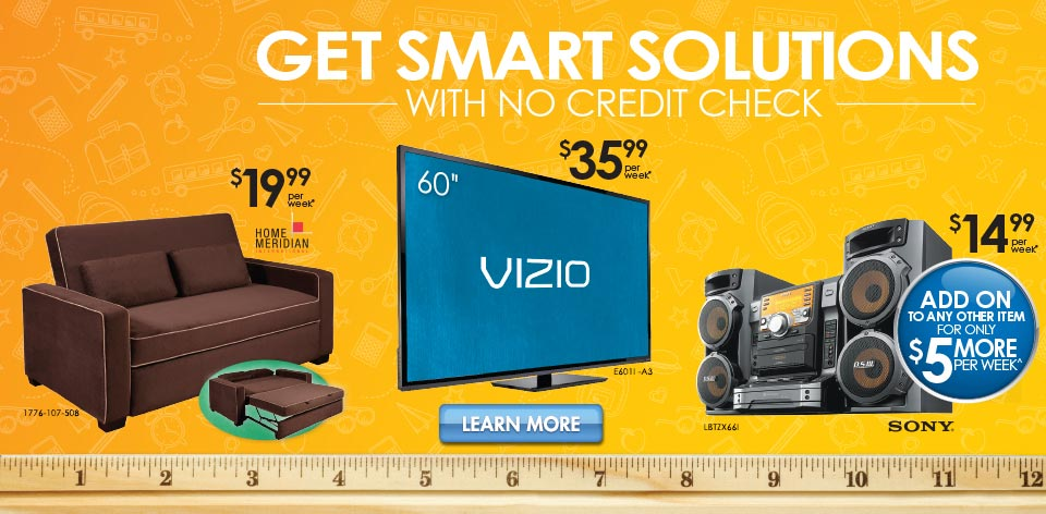 Get Smart Solutions with No Credit Check