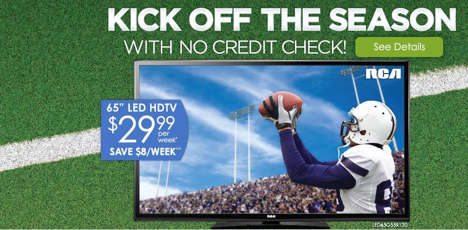 Kick Off the Season with No Credit Check! Learn More