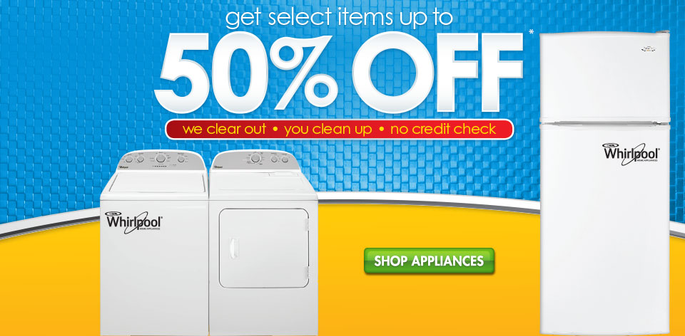 Shop Appliances - Get Up to 50% Off Select Items*