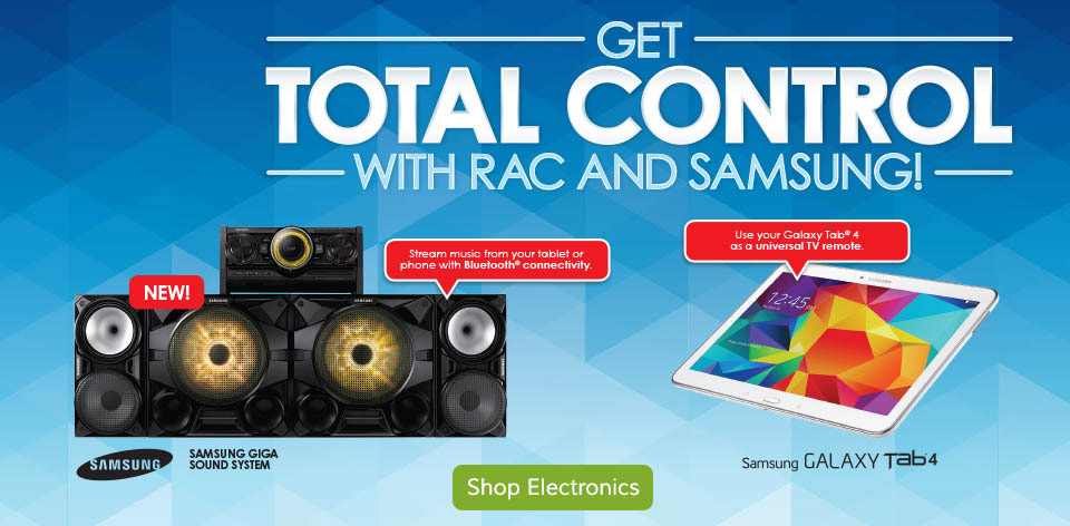 Get Total Control with RAC and Samsung - Shop Electronics