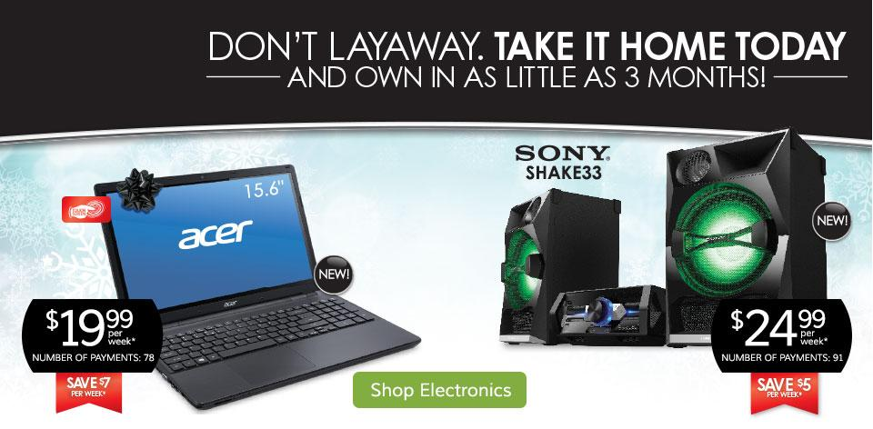 Own In As Little As 3 Months! Shop Electronics