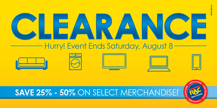 Clearance – Save 25% - 50% On Select Merchandise*